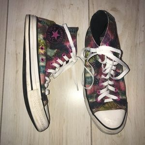 Converse All Star Feather Print High Top Sneakers